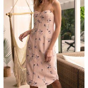 Pink Floral Print Dress NWOT